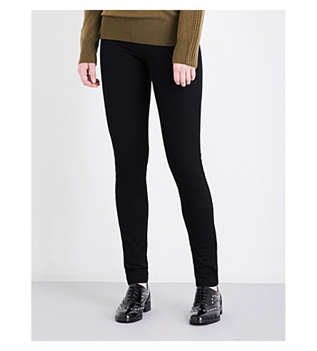 JOSEPH Skinny stretch-gabardine leggings (Black