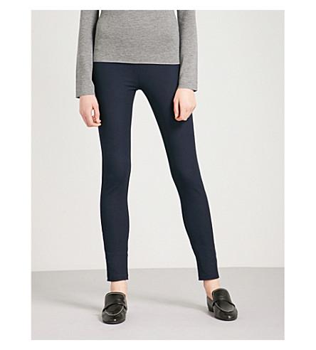 JOSEPH High-rise slim-fit stretch-gabardine leggings (Navy