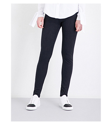 JOSEPH High-rise slim-fit stretch-gabardine leggings (Navy