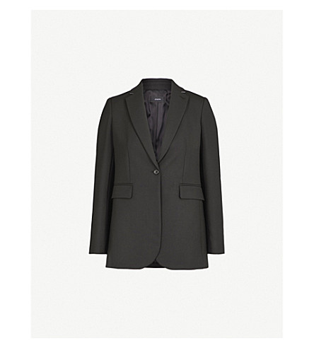 JOSEPH Woven single button jacket (Black