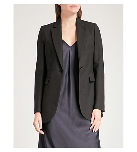 JOSEPH Woven single button jacket (Black