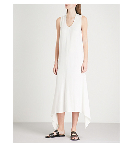 JOSEPH Reid asymmetric crepe dress (Ecru