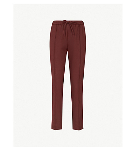 JOSEPH Loud relaxed-fit mid-rise wool-blend trousers (Morgon