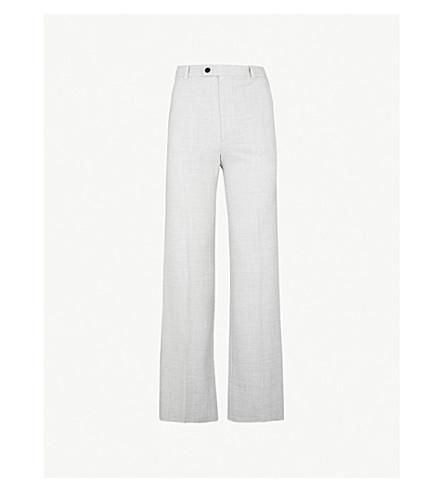 JOSEPH Tropez flared wool-blend pants (Grey chine