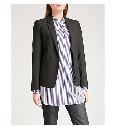 JOSEPH Single button stretch wool jacket (Black