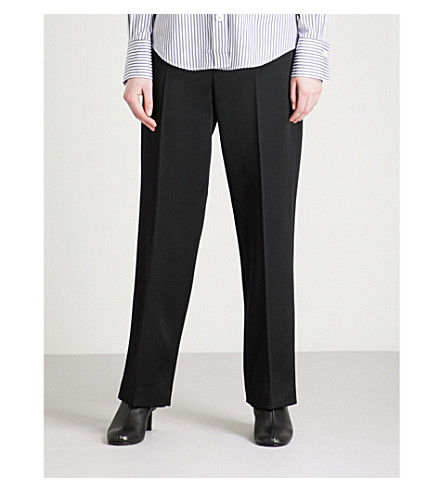 JOSEPH Birke wide-leg satin trousers (Black