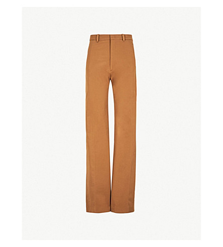 JOSEPH High-waist stretch-cotton pants (Saddle