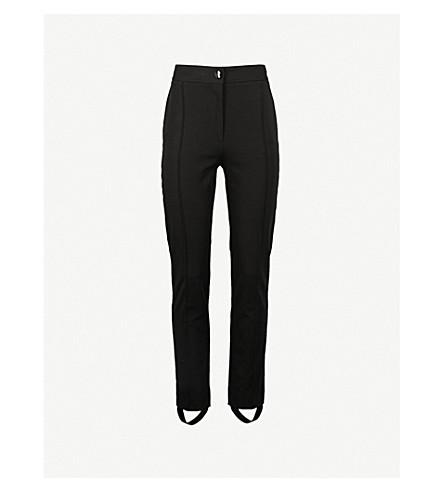 JOSEPH Stirrup-cuff slim-fit high-rise stretch-cotton pants (Black