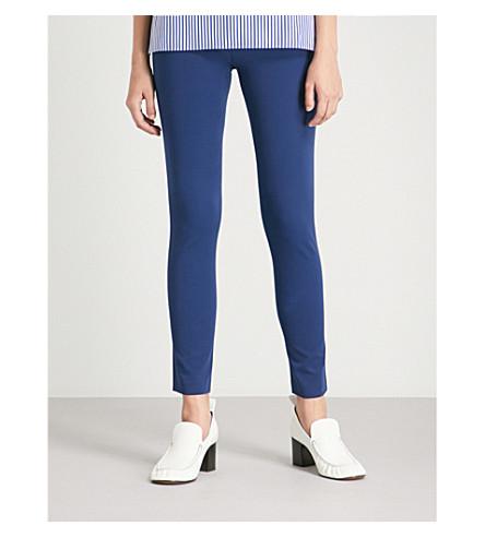 JOSEPH High-rise skinny stretch-cotton pants (Cobalt blue