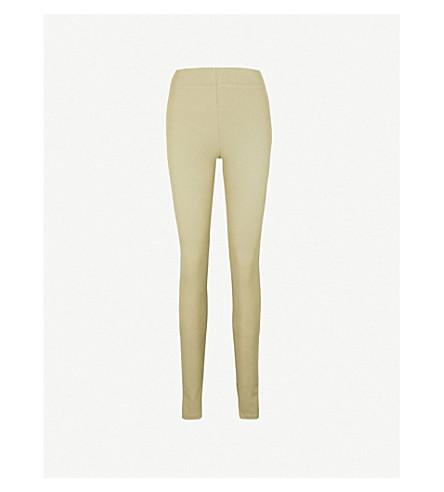 JOSEPH Super-skinny gabardine leggings (Pea