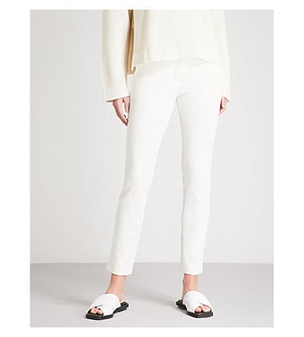 JOSEPH New Eliston slim-fit stretch-gabardine trousers (Ecru