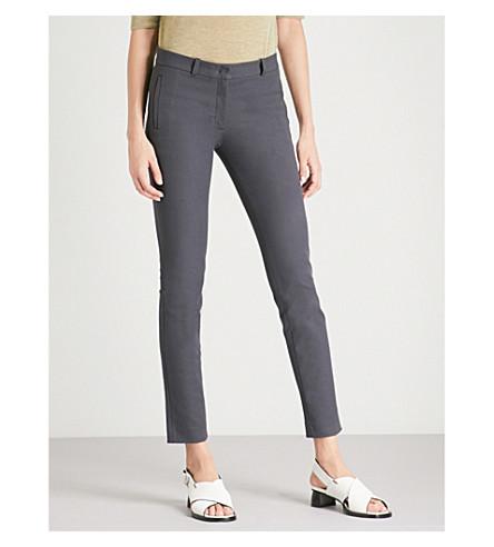 JOSEPH Slim-fit skinny mid-rise stretch-gabardine trousers (Ink