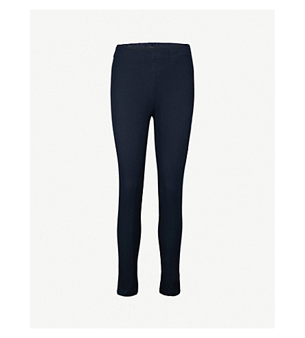 JOSEPH Slim-fit skinny high-rise woven trousers (Navy