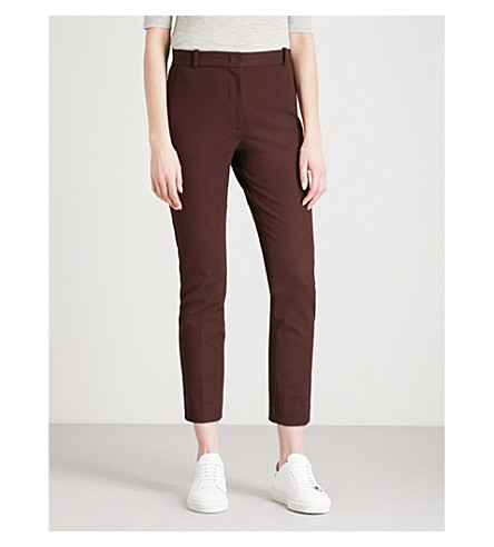 JOSEPH Slim-fit straight stretch-woven trousers (Morgon