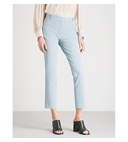 JOSEPH Slim-fit skinny mid-rise stretch-gabardine trousers (Eton