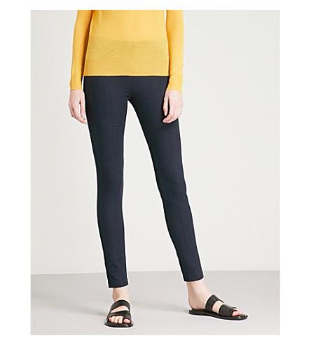 JOSEPH Slim-fit skinny high-rise stretch-gabardine trousers (Navy