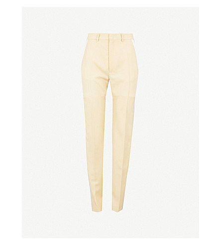 JOSEPH Grain de Poudre Fever regular-fit cady tuxedo Trousers (Custard