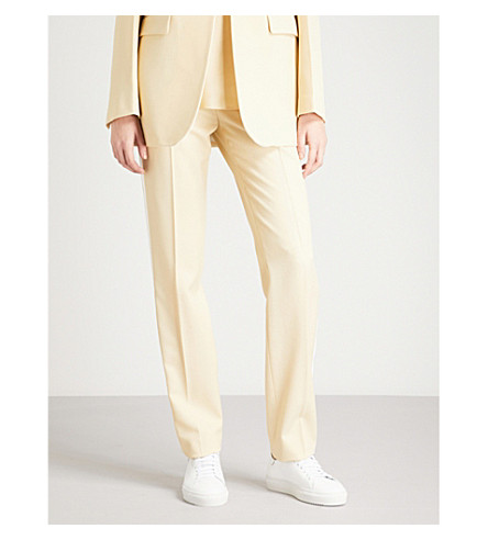 JOSEPH Grain de Poudre Fever regular-fit cady tuxedo Pants (Custard