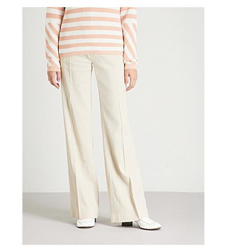 JOSEPH High-rise wide-leg woven-twill pants (Hessian
