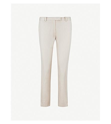 JOSEPH Slim-fit straight mid-rise stretch-cotton trousers (Ecru