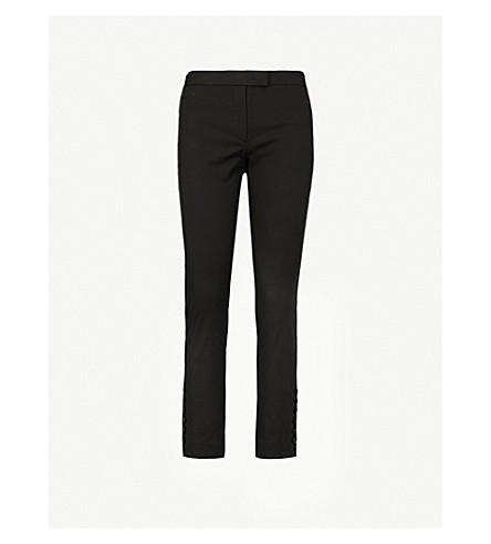 JOSEPH Finley slim-fit cropped stretch-cotton trousers (Black