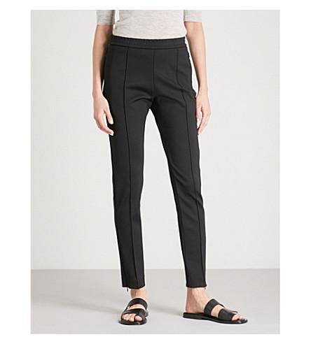 JOSEPH Slim-fit skinny mid-rise woven trousers (Black