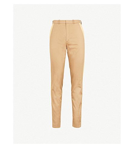 JOSEPH Fever tapered woven-twill pants (Camel