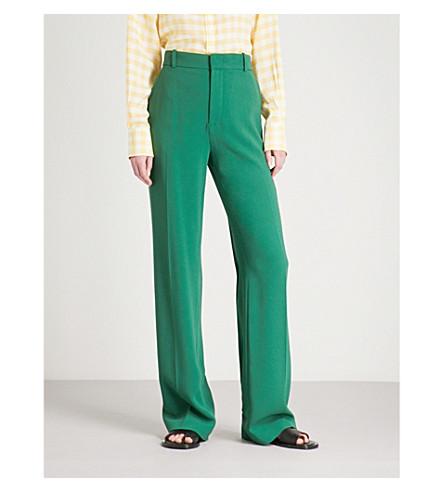 JOSEPH Ferdy wide-leg woven trousers (Emerald