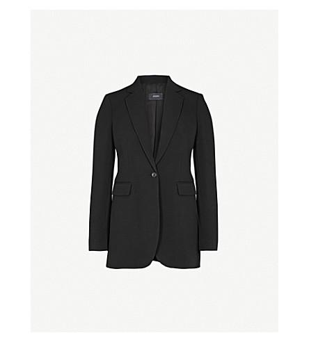 JOSEPH Single-breasted wool jacket (Black