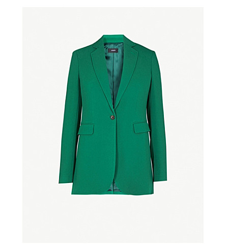 JOSEPH Single-breasted woven jacket (Emerald