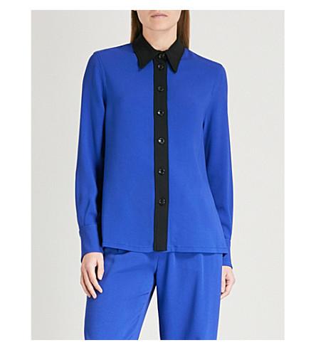JOSEPH New-Garçon crepe shirt (Cobalt/black