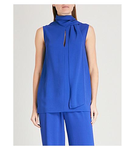 JOSEPH Noon crepe blouse (Cobalt+blue
