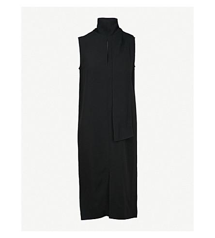 JOSEPH Noon crepe midi dress (Black