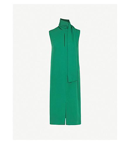JOSEPH Noon crepe midi dress (Emerald