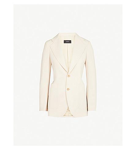 JOSEPH Single-breasted stretch-wool jacket (Beige