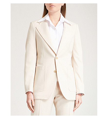 JOSEPH Single-breasted stretch-wool jacket (Beige