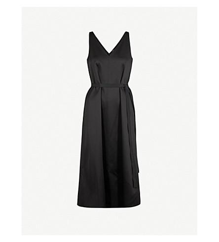 JOSEPH Davey V-neck satin dress (Black