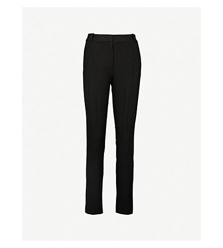JOSEPH Zoom cropped stretch-gabardine trousers (Black