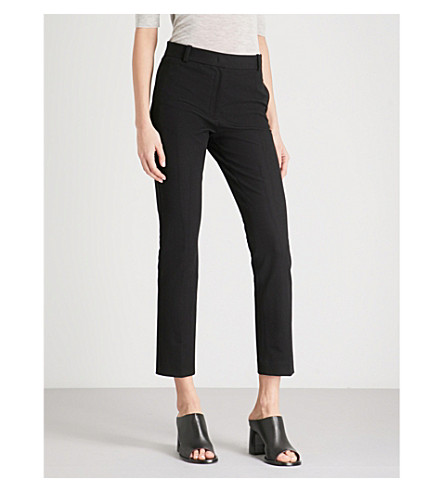JOSEPH Zoom cropped stretch-gabardine trousers (Black