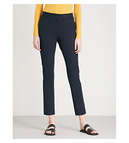 JOSEPH Zoom cropped stretch-gabardine trousers (Navy