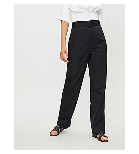 JOSEPH Bird straight cotton trousers (Black