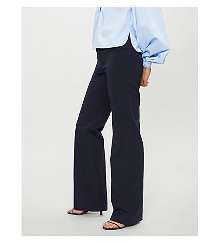 JOSEPH New Tropez wide-leg woven trousers (Navy