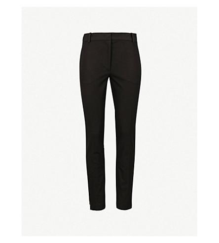 JOSEPH Zoom straight woven trousers (Black