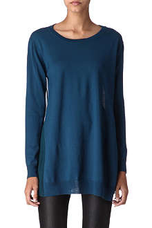 JOSEPH Sheer-back merino jumper
