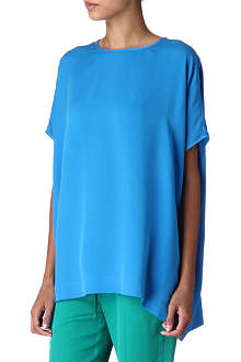 JOSEPH Silk-crepe georgette top