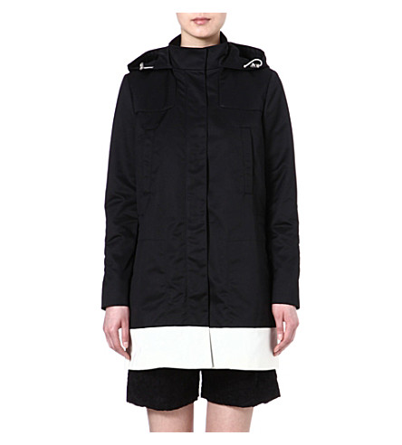 JOSEPH Techno taffeta coat (Black