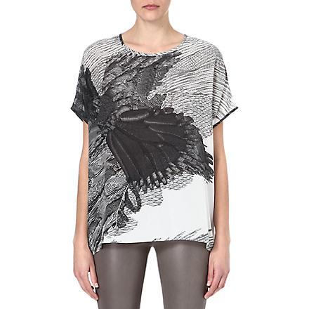 JOSEPH Eagle-print t-shirt (Black/white