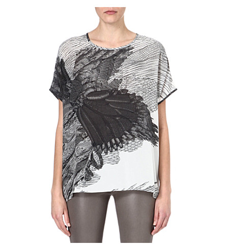 JOSEPH Eagle-print t-shirt (Black/white