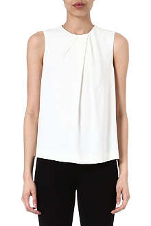 JOSEPH Lilly crepe sleeveless top