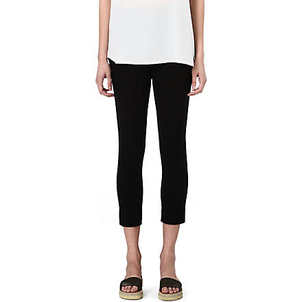 JOSEPH Tony gabardine cropped trousers (Black
